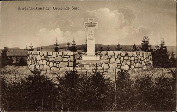 Ak Süsel in Ostholstein, Kriegerdenkmal der Gemeinde