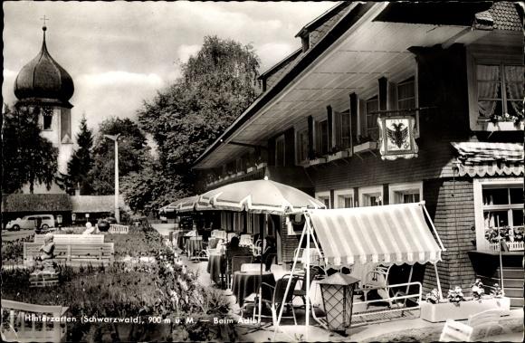 Ak Hinterzarten im Südschwarzwald, Gasthaus Adler, Zwiebelturm