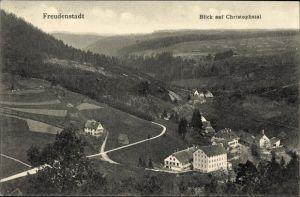 Ak Freudenstadt im Nordschwarzwald, Blick auf das Christophsthal
