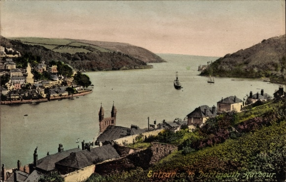 Ak Dartmouth South West, Entrance to the Harbour, Hafeneinfahrt