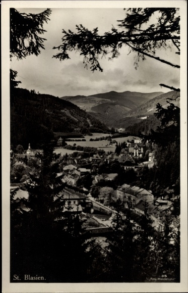 Ak St. Blasien im Südschwarzwald Baden Württemberg, Ortsansicht