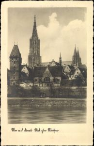 Ak Ulm an der Donau Baden Württemberg, Blick zum Münster