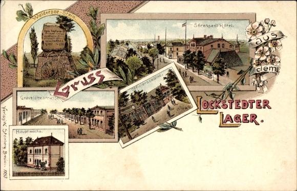 Litho Lockstedt, Lockstedter Lager, Sörensens Hotel, Walderseestein, Hauptwache
