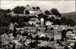 Ak Kronach im Frankenwald Bayern, Ortsansicht mit Veste Rosenberg