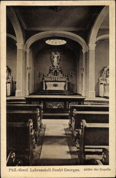 Ak Frankfurt am Main, Phil. theol. Lehranstalt Sankt Georgen, Altar der Kapelle