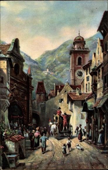 Künstler Ak Spitzweg, Carl, Serenissimi Auffahrt, Stengel 29147