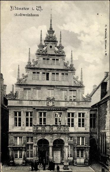 Ak Münster in Westfalen, Blick auf das Stadtweinhaus