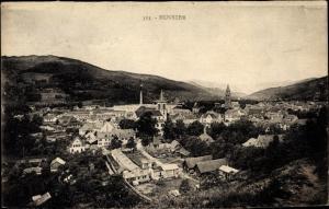 Ak Munster Münster Elsaß Haut Rhin, Gesamtansicht der Stadt