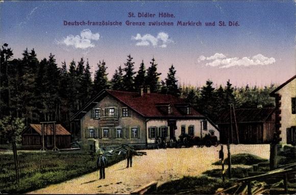 Ak St. Didier Höhe Haut Rhin,Deutsch Französische Grenze zw. Markirch u. St. Dié