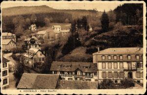 Ak Le Hohwald Bas Rhin, Blick auf den Ort mit Hotel Stauffer, Wald