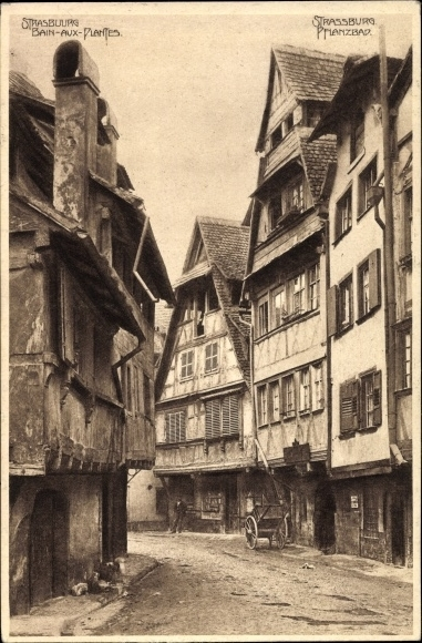 Ak Straßburg Elsaß Bas Rhin, Bain aux Plantes, Pflanzbad