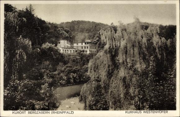 Ak Bad Bergzabern im Kreis Südliche Weinstraße, Kurhaus Westenhöfer