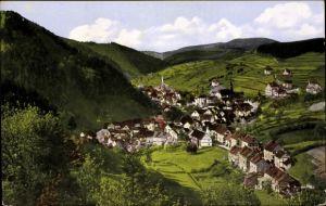 Ak Kleinschmalkalden Floh Seligenthal in Thüringen, Blick auf den Ort, Berge