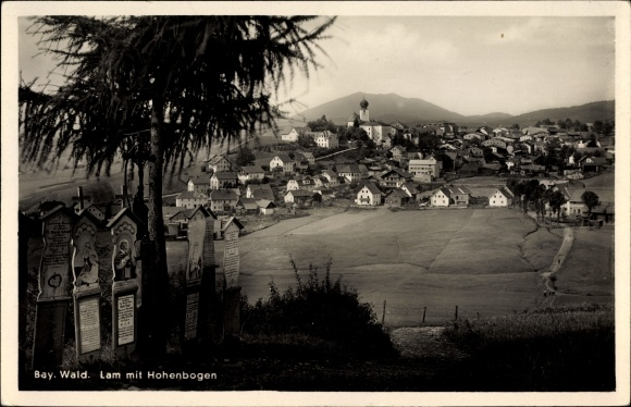 Ak Lam im Bayerischen Wald Oberpfalz, Ort mit Hohenbogen, Totenbretter
