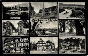 Ak Höxter an der Weser in Nordrhein Westfalen, Rathaus, Dreizehnlinden, Dechanei