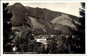 Ak Unterwössen im Kreis Traunstein Oberbayern, Blick auf das Gasthaus Daxenberg