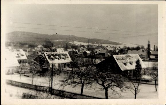 Foto Ak Eibau Kottmar in der Oberlausitz, Blick auf den Ort im Winter
