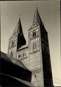 Ak Jerichow in Sachsen Anhalt, Blick auf die Klosterkirche, Türme von Nordost