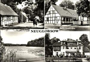 Ak Neuglobsow Stechlin im Kreis Oberhavel, Theodor Fontane Haus, FDGB Erholungsheim Haus Hirschberg