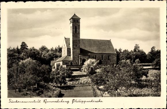 Ak Rummelsberg Schwarzenbruck in Mittelfranken Bayern, Diakonenanstalt, Philippuskirche