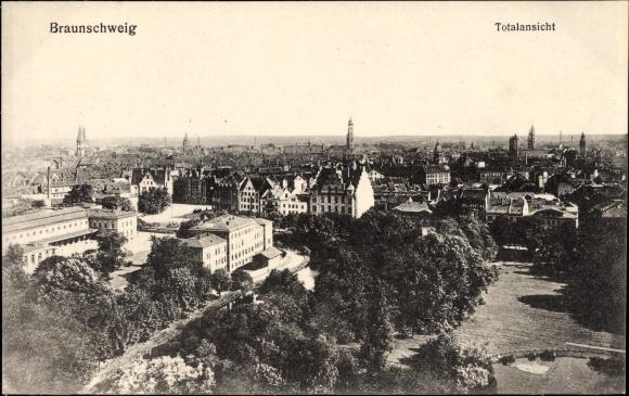 Ak Braunschweig in Niedersachsen, Totalansicht der Stadt