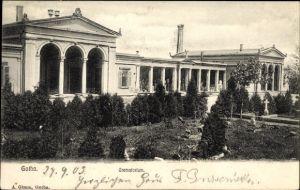 Ak Gotha im Thüringer Becken, Blick auf das Krematorium, Friedhof