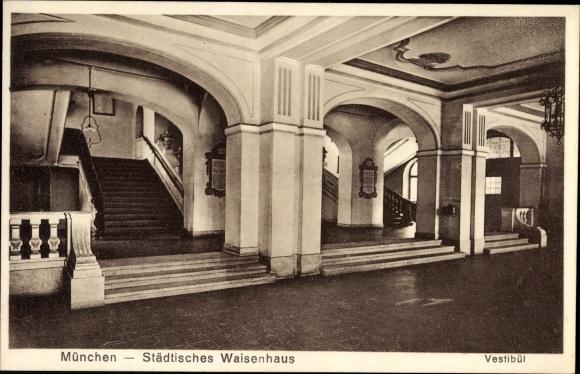 Treppen München ak münchen bayern vestibül städtisches waisenhaus treppen und