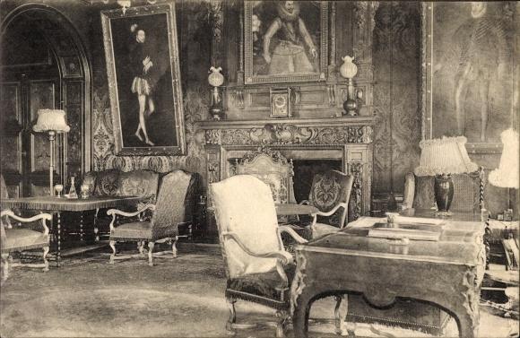Ak Marchais Aisne, Partie im Schloss Marchais, Salon, Innenansicht