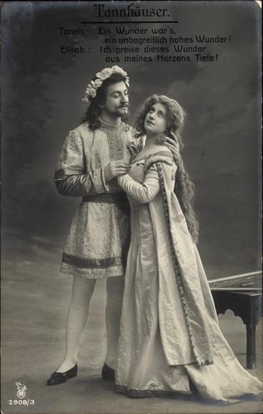 Ak Theaterszene aus Tannhäuser, Ein Wunder wärs, Elisabeth, RPH 2908 3