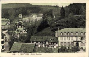 Ak Le Hohwald Elsaß Bas Rhin, Hôtel Stauffer, Teilansicht vom Ort