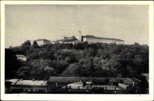 Ak Brno Brünn Südmähren, Blick hoch zum Spielberg, Spilberk