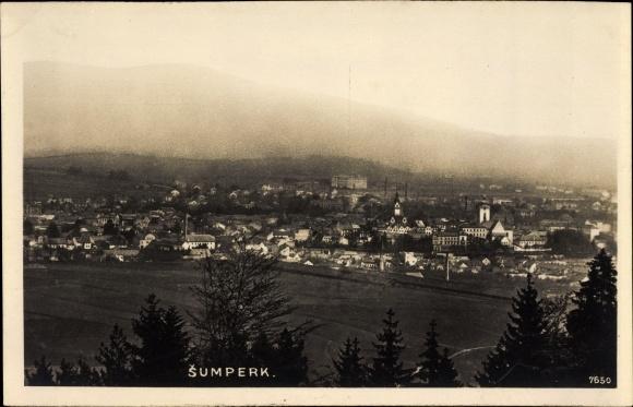 Foto Ak Šumperk Mährisch Schönberg Reg. Olmütz, Gesamtansicht der Ortschaft