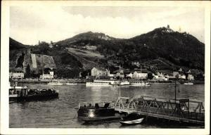 Ak Königswinter im Rhein Sieg Kreis, Blick über den Rhein auf Königswinter und Drachenfels
