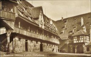 Ak Bamberg an der Regnitz Oberfranken, Inneres der alten Hofhaltung