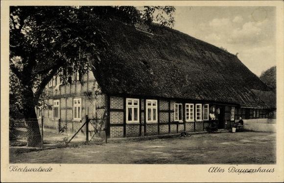 Ak Kirchwalsede in Niedersachsen, Altes Bauernhaus von außen gesehen
