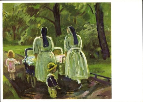 Künstler Ak Reinhold, Prof. Hans, Schwestern, Nonnen mit Kinderwagen, Künstler Hilfswerk 1937