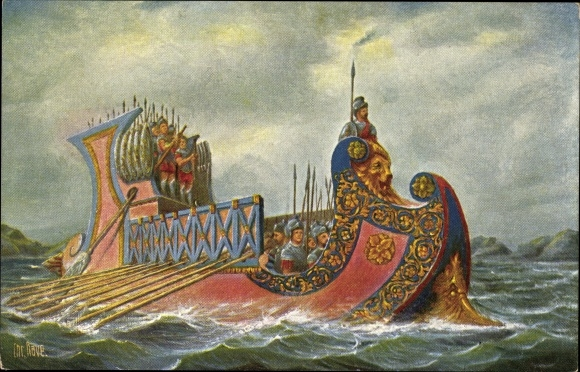 Künstler Ak Rave, Chr., Marine Galerie 19, Römisches Kriegsschiff, 1Jh v. Chr.