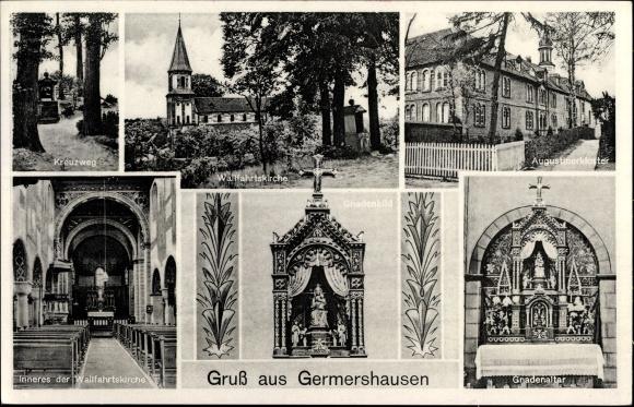 Ak Germershausen Rollshausen, Wallfahrtskirche, Augustinerkloster, Gnadenaltar