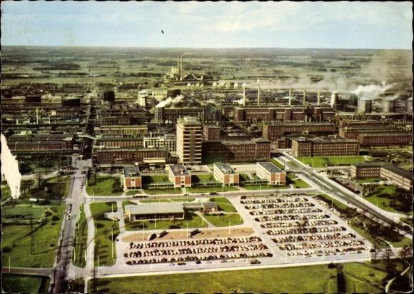 Ak Marl Nordrhein Westfalen, Fliegeraufnahme, Chemische Werke Hüls AG