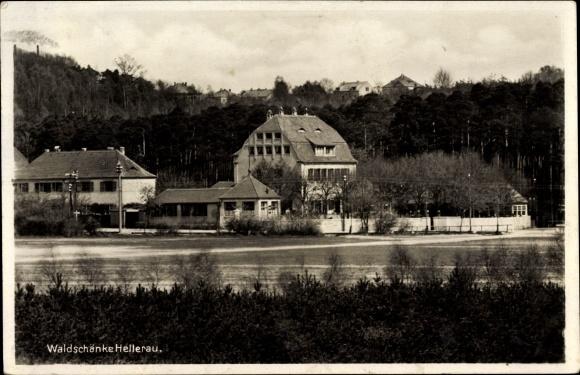 Ak Dresden Nord Hellerau, Waldschänke von Herm. Prescher Nr. 1278628 ...