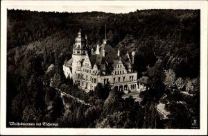 Ak Schwebda Meinhard im Werra Meißner Kreis, Fliegeraufnahme von Wolfsbrunnen