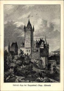 Künstler Ak Bernried im Kreis Deggendorf Niederbayern, Schloss Egg bei Deggendorf