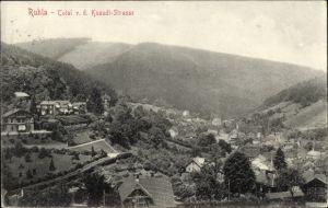 Ak Ruhla Thüringen, Totalansicht des Ortes von der Knaudtstraße