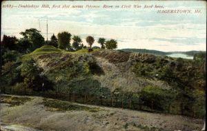 Ak Hagerstown Maryland USA, Doubledays hill, Potomac river, Civil War