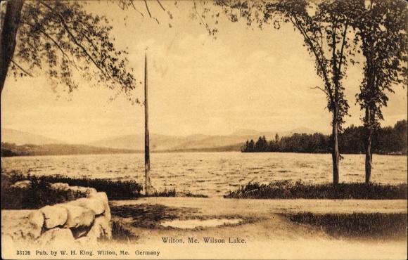 Ak Wilton Maine USA, Wilson Lake, Blick über den See