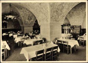 Ak Nürnberg in Mittelfranken Bayern, Mautkeller, Innenansicht, Brauhaus