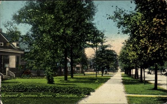 Ak Birmingham Alabama USA, Norwood Residence Section, Promenade