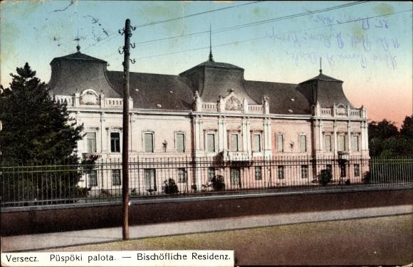 Ak Vršac Versecz Serbien, Püspöki palota, Bischöfliche Residenz