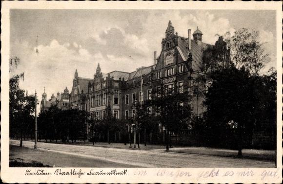 Ak Dresden, Staatliche Frauenklinik, Ansicht Straßenseite