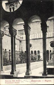 Ak Ragusa Dubrovnik Kroatien, Samostan Male Brace, Franziskanerkloster